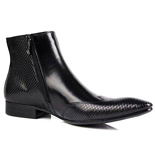 Fulinken Scarpe Da Uomo Formali Bicolori In Pelle Scarpe Oxford Classiche Scarpe Da Uomo Brogue Classiche Stivali Chelsea Nere