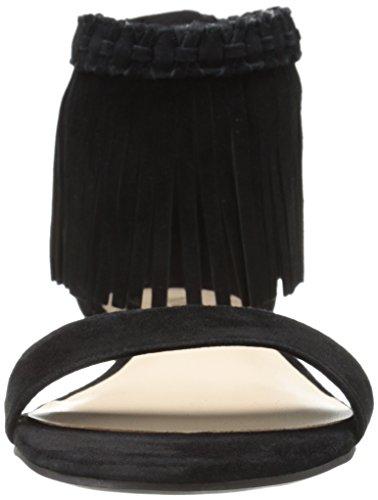 Nine West Wanderlust de la mujer Suede vestido sandalia Black