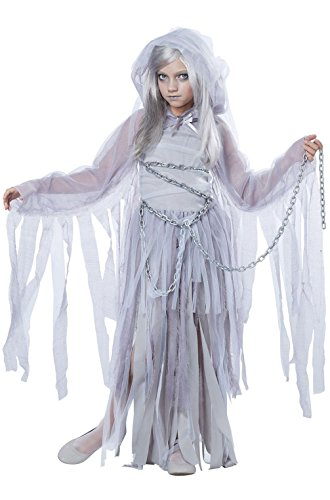 [Mememall Fashion Haunted Beauty Ghost Spirit Girls Child Costume] (Haunted Ghost Costume)
