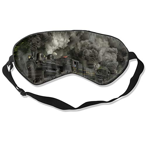 Oh-HiH 100% Silk Eye Mask Train Locomotive Sleeping Blindfold Blocks Light Eye Cover (Locomotive Telephone)