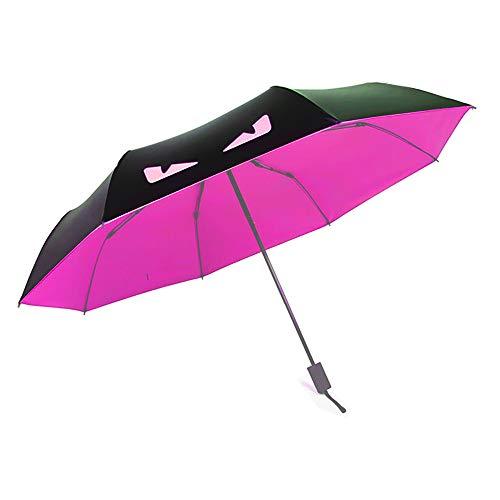 Little Devil Sun Umbrella Light Compact Parasol with 95% UV (Rose red)