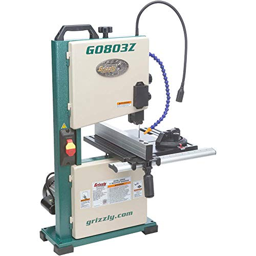 "Grizzly Industrial G0803Z - 9"" Benchtop Bandsaw with Laser Guide"