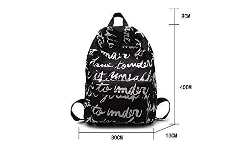 Sac L'École Pour Capacité Imprimé D'Impression Dos À Mode Toile Femme Filles Jeunes Rucksack Sac B VHVCX Grande Sac Lettre Voyage wxY6TqnXvw