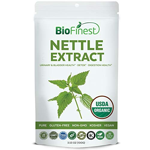 Biofinest Nettle Leaf Extract Powder 750mg – USDA Certified Organic Pure Gluten-Free Non-GMO Kosher Vegan Friendly – Supplement for Digestion Health, Detox, Bladder Health, Respiratory Support (100g) For Sale