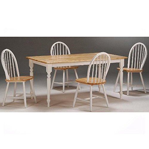 se 5-Piece Dining Room Set, White/Natural (Stylish Natural Dining Room Table)