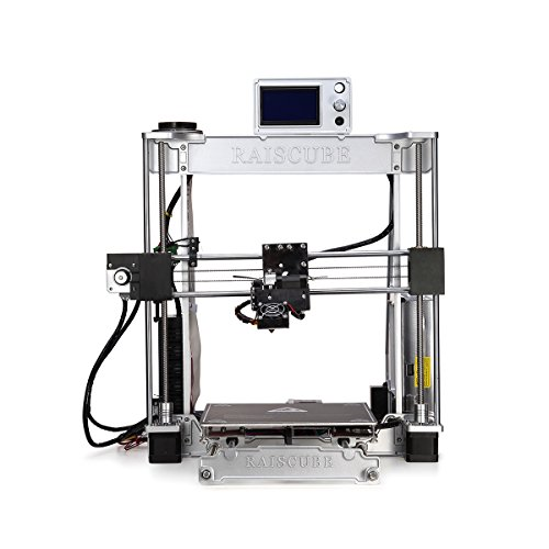 Full Aluminum Desktop 3D printer Kits,High Precision Fastest Speed Professional 3D Printing Machine - Silver by RAISCUBE