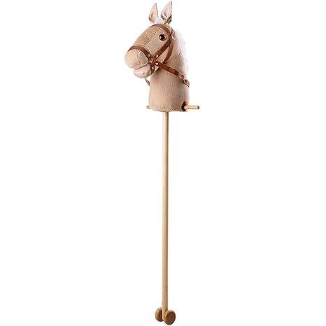 Cavallo Di Legno Giocattolo.Bigjigs Toys Cavallo Di Legno In Velluto Amazon It Giochi E Giocattoli
