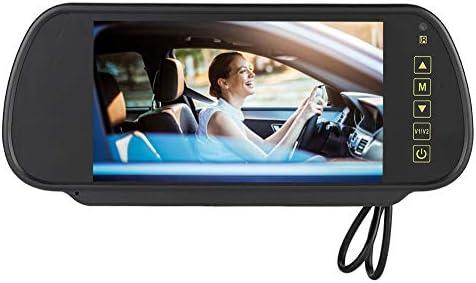 La pantalla digital LED del espejo retrovisor de 7 pulgadas de Sanpyl Car se puede conectar