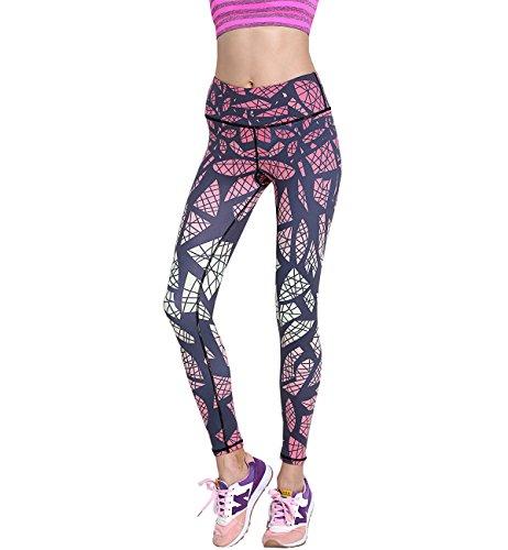 Lorata Yoga Pantalones Legging Deportivo de Mujer para Correr Deporte Gimnasio Entrenamiento rojo
