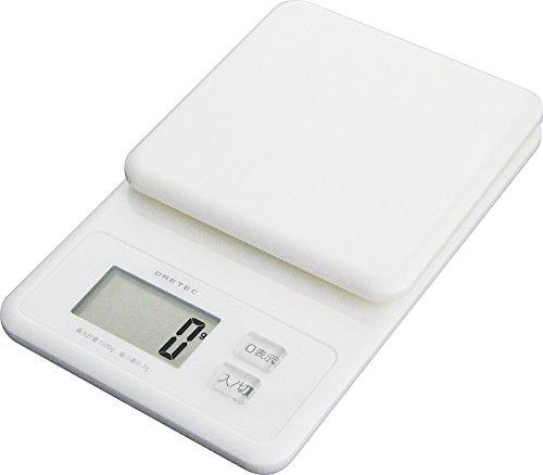 """DRETEC digital scale """"whip"""" 1kg white KS-147WT"""