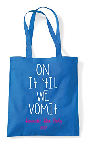 Do Shopper Vomit We It Sapphire Bag Customised On Party Tote Til Personalised Hen w8P4ZqS