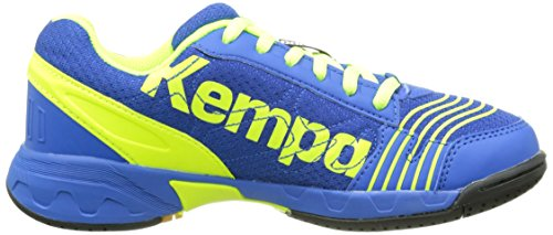 Kempa 200844903 - Zapatillas, Infantil Azul (Royal/Jaune Fluo)