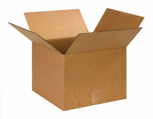 "Aviditi 131310 Corrugated Box, 13"" Length x 13"" Width x 10"" Height, Kraft"