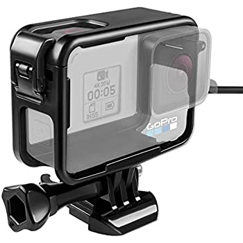 Amazon.com : HSU Frame Mount Housing Case for GoPro Hero 5 6 ...