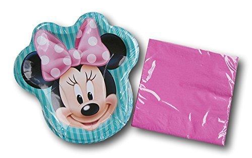Disney Minnie Mouse Party Birthday Bundle - Plates and Napki