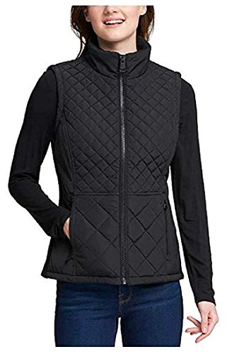 (Andrew Marc W's Quilted Insulated Vest (Black, Large))