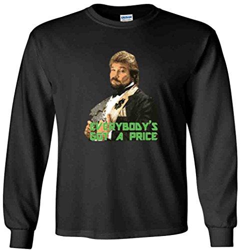The Silo LONG SLEEVE BLACK Million Dollar Man WWF T-Shirt ADULT -