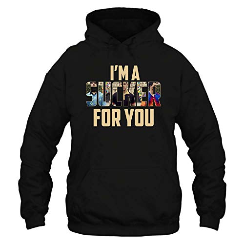 (I'm A Sucker for You Jonas-Brothers-T-Shirt-Hoodie for Fan for Men for Women (Hooded Sweatshirt;Black;M))