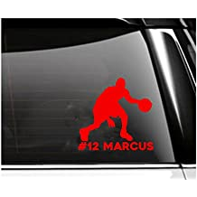 Personalized Basketball Car Decal- Basketball Dribble