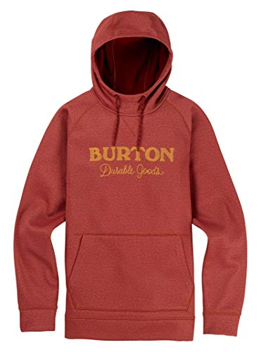 Burton Men's Crown Bonded Pullover Hoodie, Sparrow Heather, Large