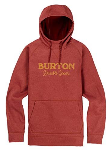 Burton Men's Crown Bonded Pullover Hoodie, Sparrow Heather, Large