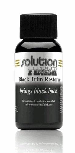 Solution Finish Black Plastic & Vinyl Plastic Trim Restorer - Car and Truck Polish - 1 oz.