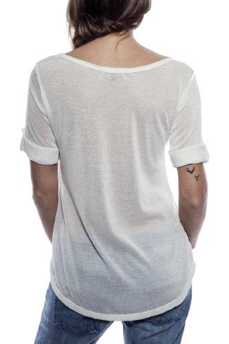 Ella Manue Women Babydoll Shirt Camiseta para Mujer Madelene White