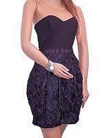 Sexy Unique Black Viscose Lace Little Black Dress Cocktail