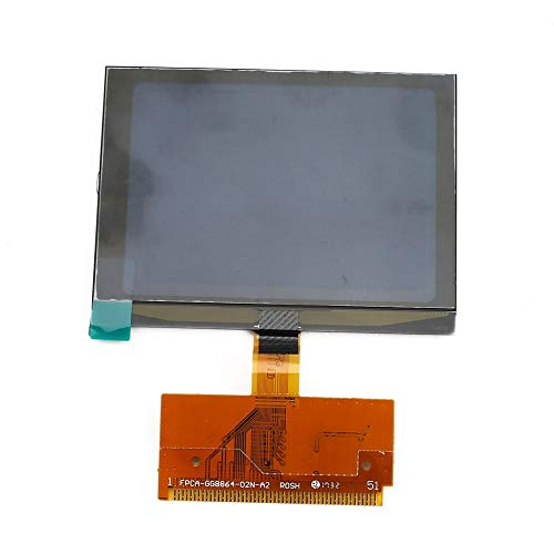 A4 A6 Pantalla de visualizaci/ón CLUSTER LCD de vidrio VDO para autom/óvil con conector flexible y controlador de pantalla para AUDI A3 Negro y Marr/ón