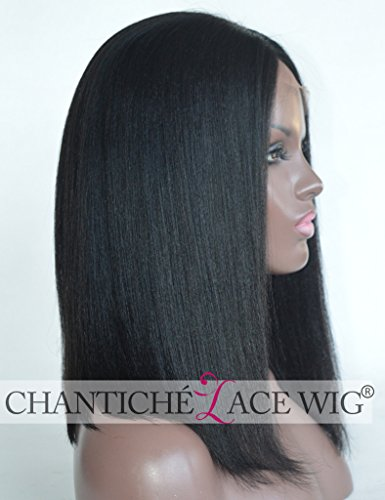 Chantiche-Best-Soft-Coarse-Yaki-Short-Bob-Cut-Wig-Affordable-3-Middle-Deep-Parting-Silk-Top-Lace-Front-Wigs-For-Black-Women-Glueless-Indian-Remy-Human-Hair-Replacement-Wigs-14-Inch-1B