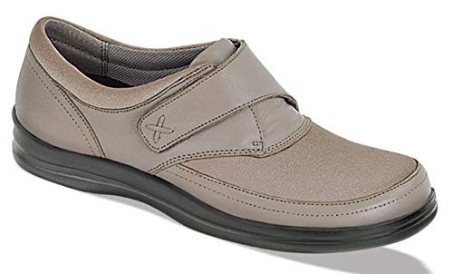 Apex Petals A723W Women's Casual Shoe: Tan 8.5 Wide (D-E) Velcro