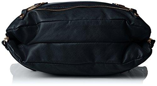 SwankySwans - Eva Zipper Messenger School Pu Leather, Borsa a tracolla Donna Blue (Navy blue)