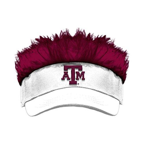 NCAA Texas A&M Aggies Flair Hair Visor, White/Maroon, One Size (Hats With Hair Attached)