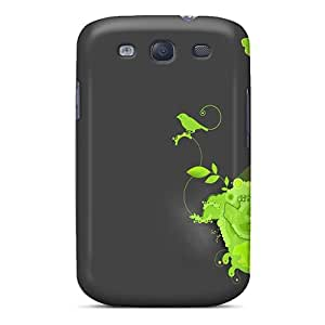 Excellent Galaxy S3 Case Tpu Cover Back Skin Protector Green Bird