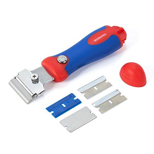 WORKPRO Retractable Razor Scraper with Storage of Blades