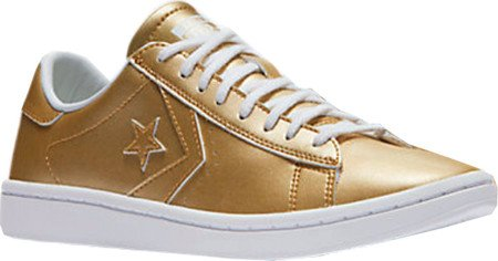 Zapatillas Converse Pro Leather Gold Metálico