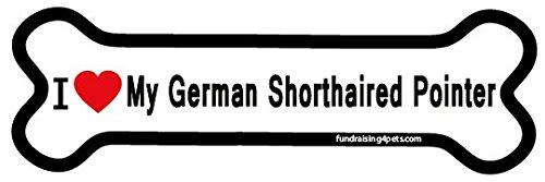 (I Love My German Shorthaired Pointer bone magnet)