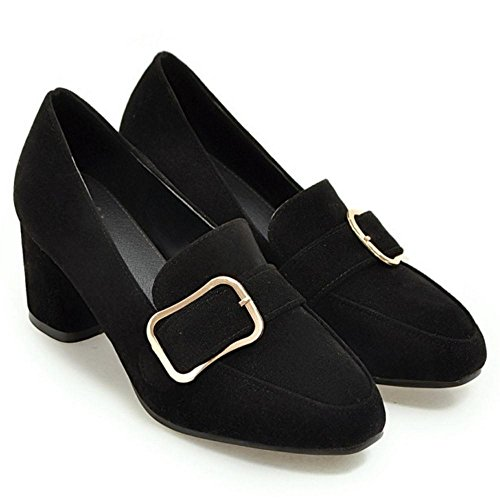 TAOFFEN Femmes Trendy a Enfiler Escarpins Black R1mQlb