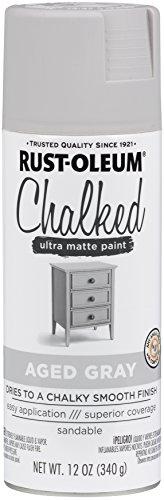 Rust-Oleum 302592 Chalked Spray Paint, 12 oz, Aged Gray/Gray (Best Light Grey Paint)