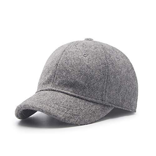 Paangkei Unisex Wool Blend Basic Short Bill Cute Hiphop Ball Cap Bill Snapback Hat,Outdoor Sports Warm Baseball Cap Anti Sweat Sunscreen Trucker Hats(Medium, Short Brim, 02 Light ()