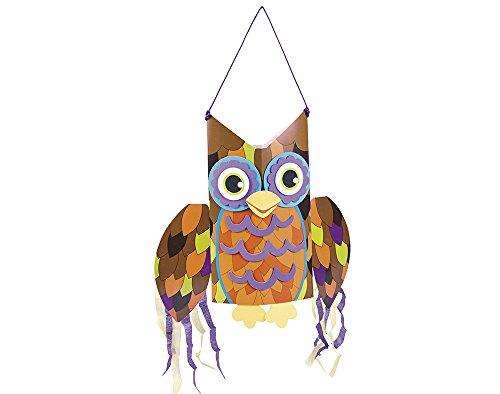 12 Jumbo Brown Owl Windsock Craft Kits 30.5cm x 43.5cm - Halloween]()