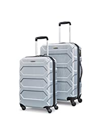 Samsonite Magnitude LX 2-Piece Nested Hardside Luggage Set (Spinner 19/Spinner 24), Silver, Checked – Medium ( Model: 104099-1776 )