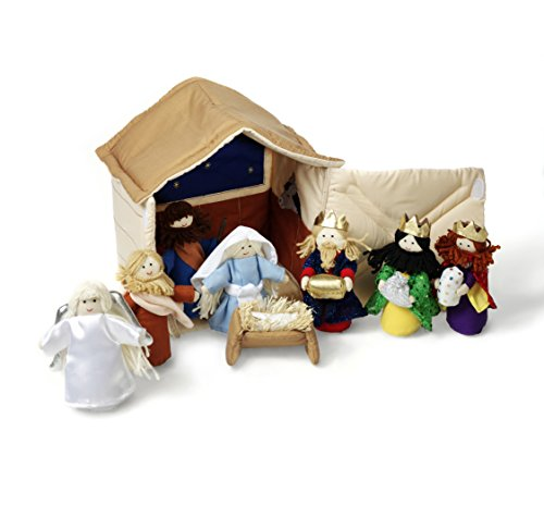 Oskar & Ellen 10 Piece Hand Sewn Fair Trade Soft Nativity Fabric Playset Toy
