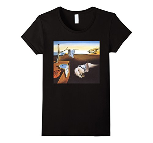Womens The Persistence of Memory by Salvador Dali T Shirt Medium Black