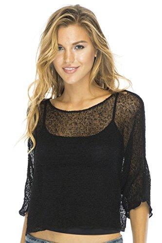 Blouson Top Lite Sleeves Black ()