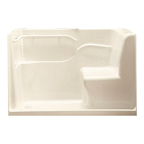American Standard 3060SH.LL 30-Inch By 60-Inch By 37-Inch Seated Shower with Drain, Linen, Left (American Standard Grab Bar)