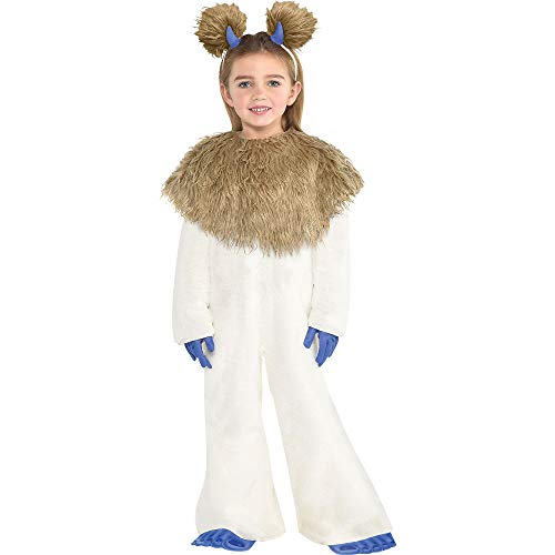 Costumes USA Smallfoot Cali Costume for Girls, Size Small, Includes a Jumpsuit, a Headband, a Collar, Gloves, and -