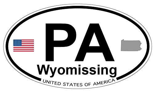 Wyomissing, Pennsylvania Oval Sticker