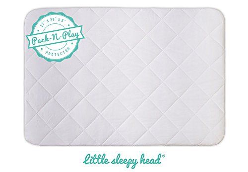 Soft, Waterproof Portable Crib Mattress Protector for Pack n Play & Play Yards ()