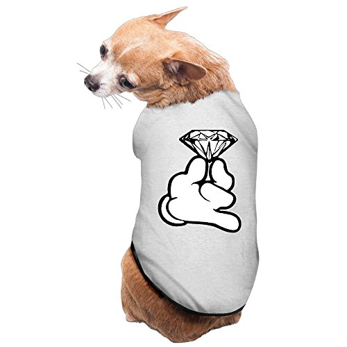 [Elnory Cartoon Hands Holding Diamond Pet Shirt Dog Cat Costume L] (Dog Costume Carrying Gift Video)